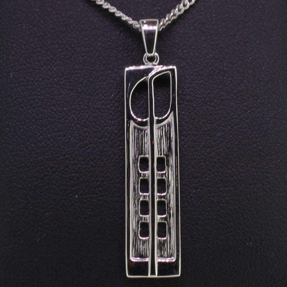 Cairn Sterling Silver Mackintosh Pendant - P230-Ogham Jewellery