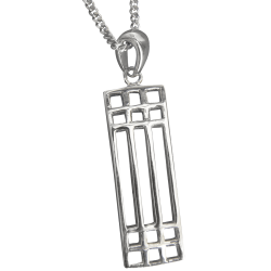 Cairn Sterling Silver Mackintosh Pendant - P502-Ogham Jewellery
