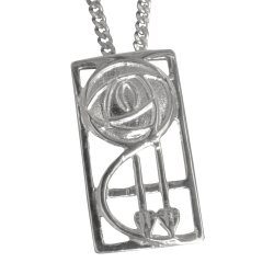 Cairn Sterling Silver Mackintosh Pendant - P571-Ogham Jewellery