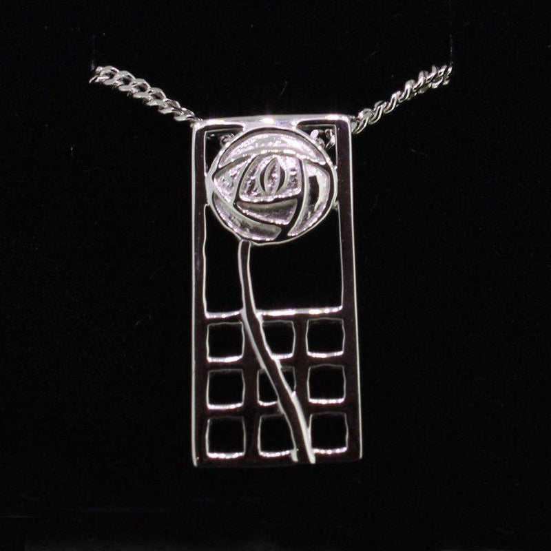 Cairn Sterling Silver Mackintosh Pendant - P740-Ogham Jewellery