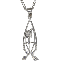 Cairn Sterling Silver Mackintosh Pendant - P752-Ogham Jewellery