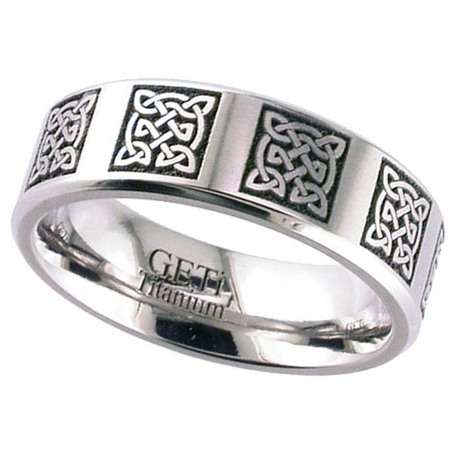 Titanium Celtic Knot Ring - 2226CH-CD10