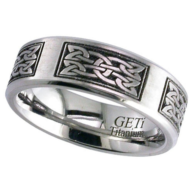 Titanium Celtic Knot Ring 2226CH-CD15