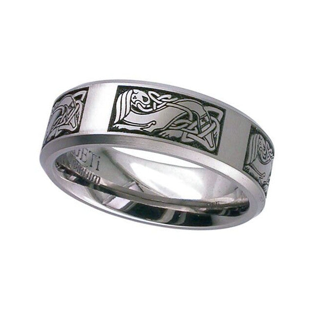 Celtic Titanium Ring - 2226CH-CD3