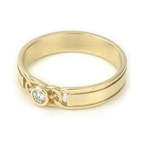 Celtic Engagement or Wedding Ring 9ct or 18ct Yellow or White Gold -DR23-Ogham Jewellery