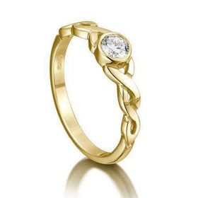 Celtic Knot Diamond Ring - Gold, Platinum or Palladium - DR175-Ogham Jewellery