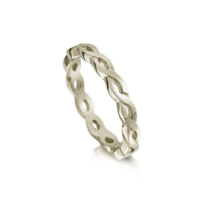 Celtic Knot Ring - 9ct 18ct Gold, White Gold, Platinum, Palladium (R174)-Ogham Jewellery