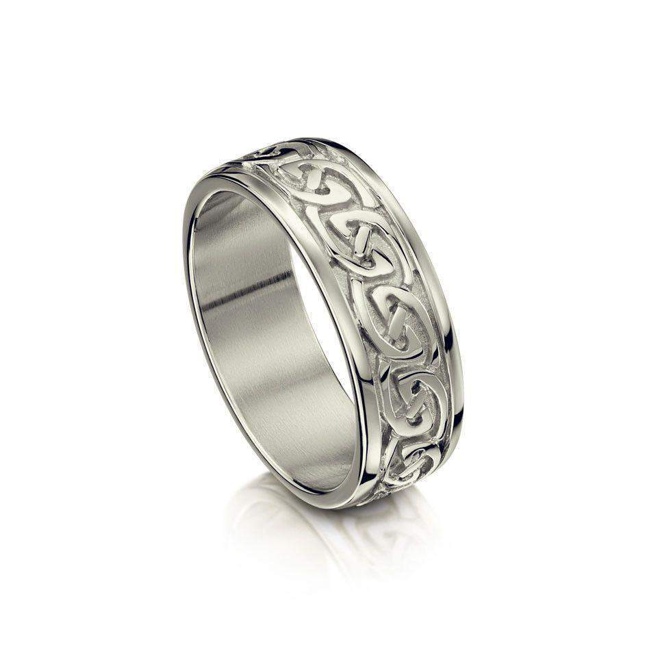 3ce9310d864 Celtic Knot Ring in Various Metals - Sheila Fleet (R23) - Size J-Q- ...