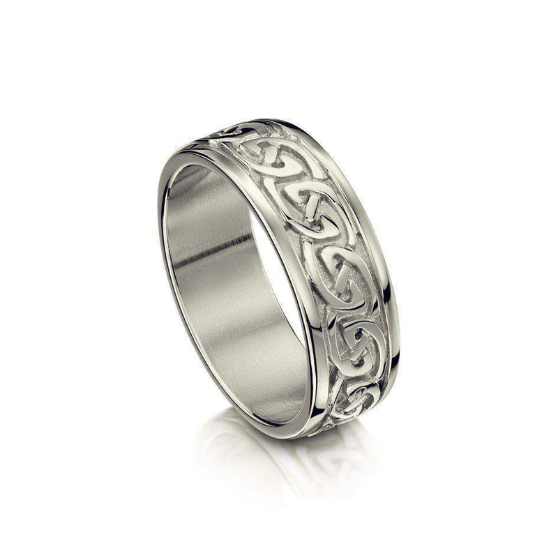 Celtic Knot Ring in Various Metals - (R23) - Size J-Q