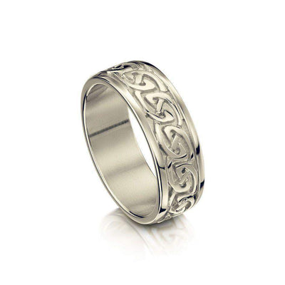 Celtic Knot Ring in Various Metals - Sheila Fleet (R23) - Size J-Q-Ogham Jewellery