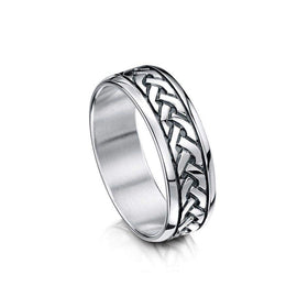 Celtic Knot Ring - Sheila Fleet (R29) - Various Metals - Size J-Q-Ogham Jewellery