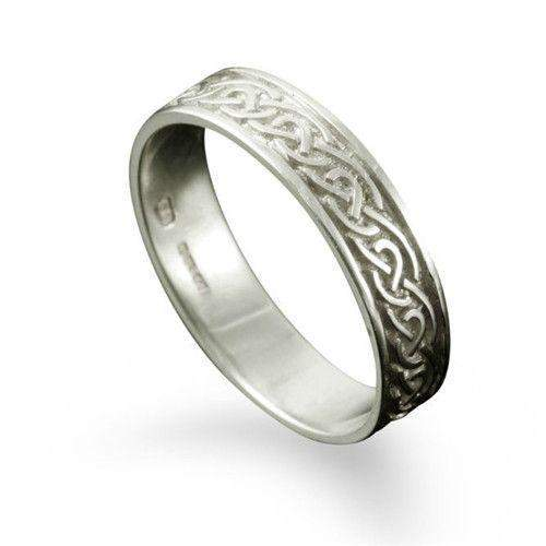 Celtic Ring in Silver, Gold, Platinum - - R121 - Size J-Q