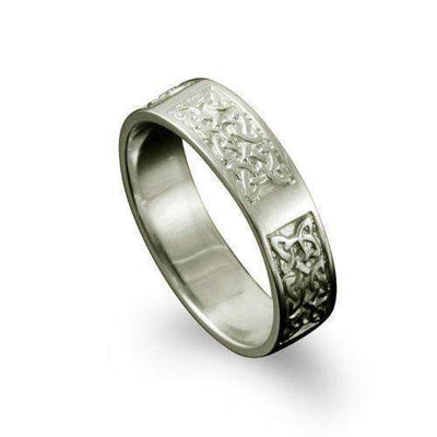 Celtic Ring in Silver, Gold, Platinum - Shetland - R125 R-Z-Ogham Jewellery