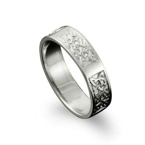 Celtic Ring in Silver, Gold, Platinum - - R125 R-Z