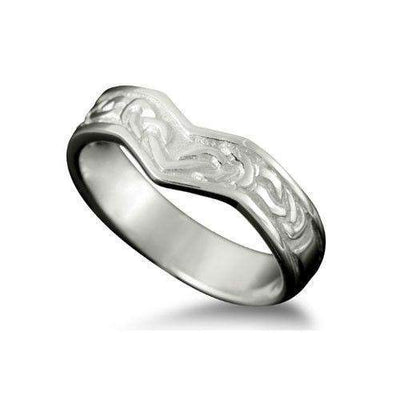 Celtic Ring in Silver, Gold, Platinum - Shetland - R149-Ogham Jewellery