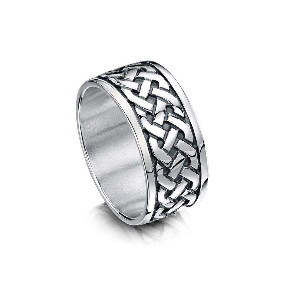 Celtic Ring - Sheila Fleet (RX29) - Various Metals - 10-11mm - Size P-Z+5-Ogham Jewellery