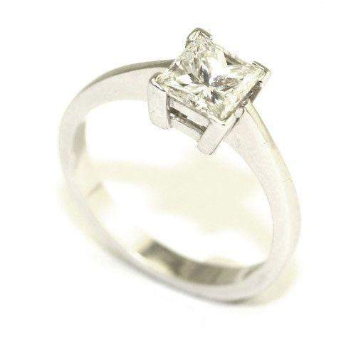 Certificated Princess Cut Diamond Engagement Ring 1.26ct-Ogham Jewellery
