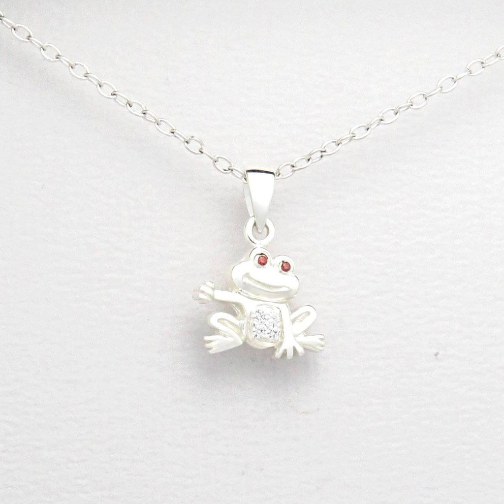 Children's Sterling Silver Pendant With a little Frog.-Ogham Jewellery