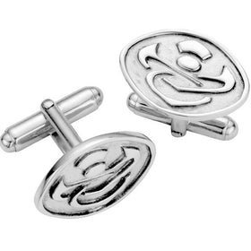 Silver Celtic Thistle Cufflinks - CL005
