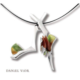 Daniel Vior Alula Imbricata Carnelian And Turkish Agate Necklace - 766080-Ogham Jewellery