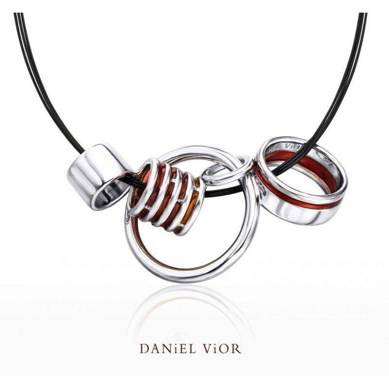 Daniel Vior Anelles Red Enamel Necklace - 766840-Ogham Jewellery