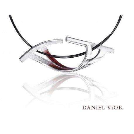 Daniel Vior Biteno Red Enamel Necklace - 766781-Ogham Jewellery