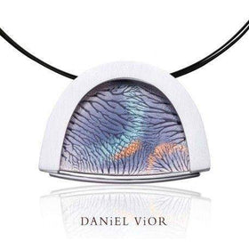 Daniel Vior Capil-lars Gray Enamel Necklace - 766940-Ogham Jewellery
