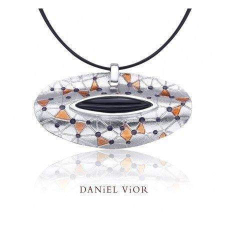 Daniel Vior Citos Onyx Or Agate Enamel Necklace - 766450-Ogham Jewellery