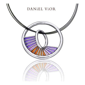Daniel Vior Equinox Red Enamel Necklace - 766770-Ogham Jewellery