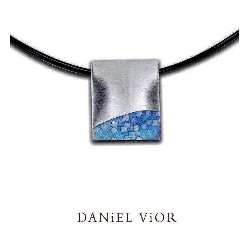 Daniel Vior Fer Blue Enamel Necklace - 764302-Ogham Jewellery