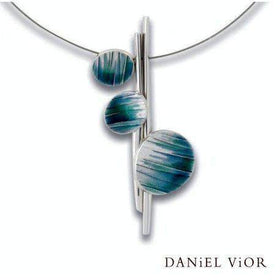 Daniel Vior Hafo Green/Blue Enamel Necklace - 765633-Ogham Jewellery