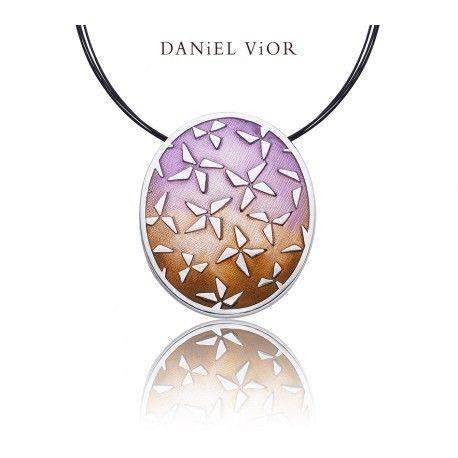 Daniel Vior Hoshi Brown Enamel Necklace - 766651-Ogham Jewellery