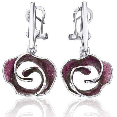 Daniel Vior Silver & Enamel Designer Earrings - 736791-Ogham Jewellery