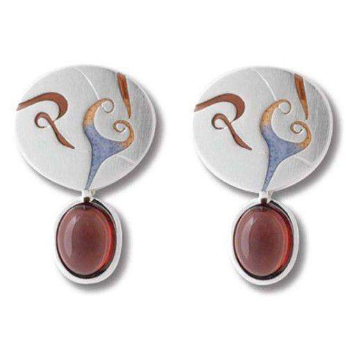 Daniel Vior Silver & Enamel Designer Earrings - Solve-Ogham Jewellery
