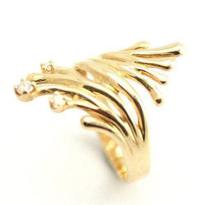 Designer Gold and Diamond Ring-Ogham Jewellery