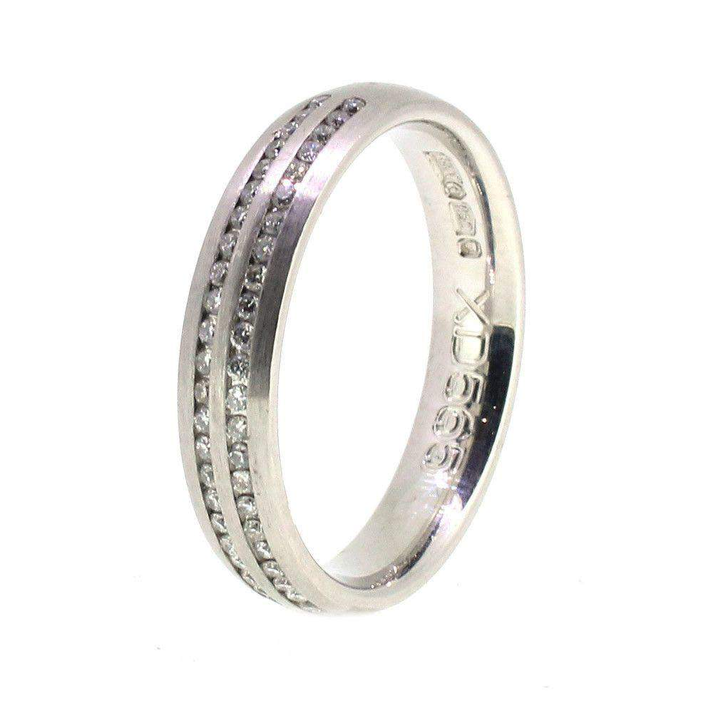 Designer Platinum And Diamond Wedding Ring 0.50ct - XD565