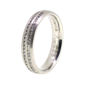 Designer Platinum And Diamond Wedding Ring 0.50ct - XD565-Ogham Jewellery