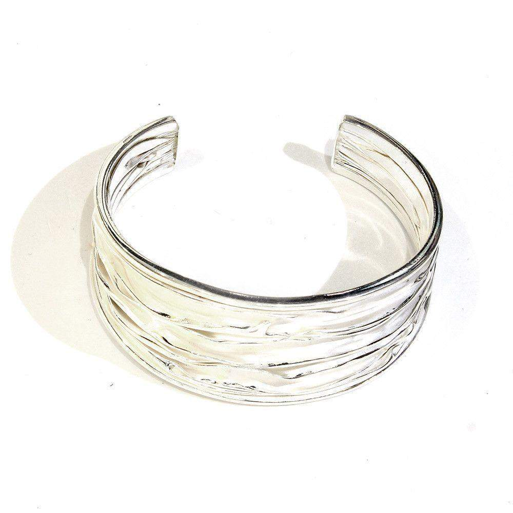 Designer Silver Bangle 507-Ogham Jewellery