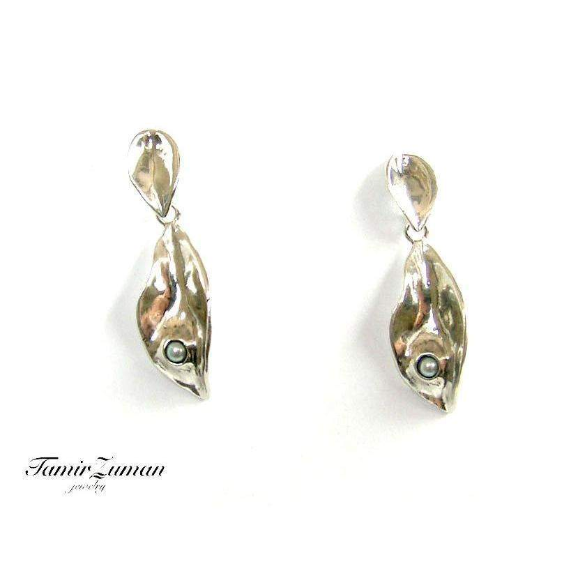 Designer Silver Drop Earrings E5206A-Ogham Jewellery