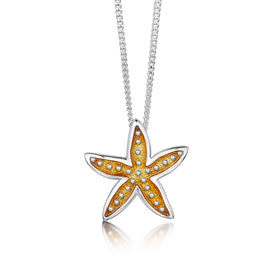 Starfish Sterling Silver with Enamel Pendant - EPX251