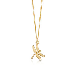 Dragonfly 9ct Yellow Gold Pendant - P240