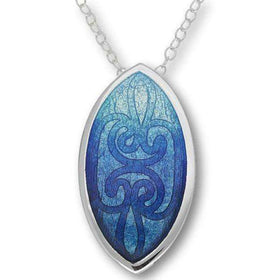 EP298 Ortak Silver And Enamel Pendant-Ogham Jewellery