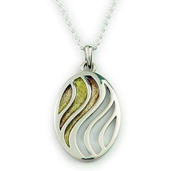 EP309 Ortak Silver And Enamel Pendant-Ogham Jewellery