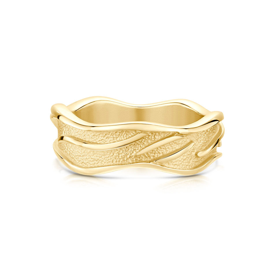 Sea Motion 9ct Yellow Gold Ring - R220