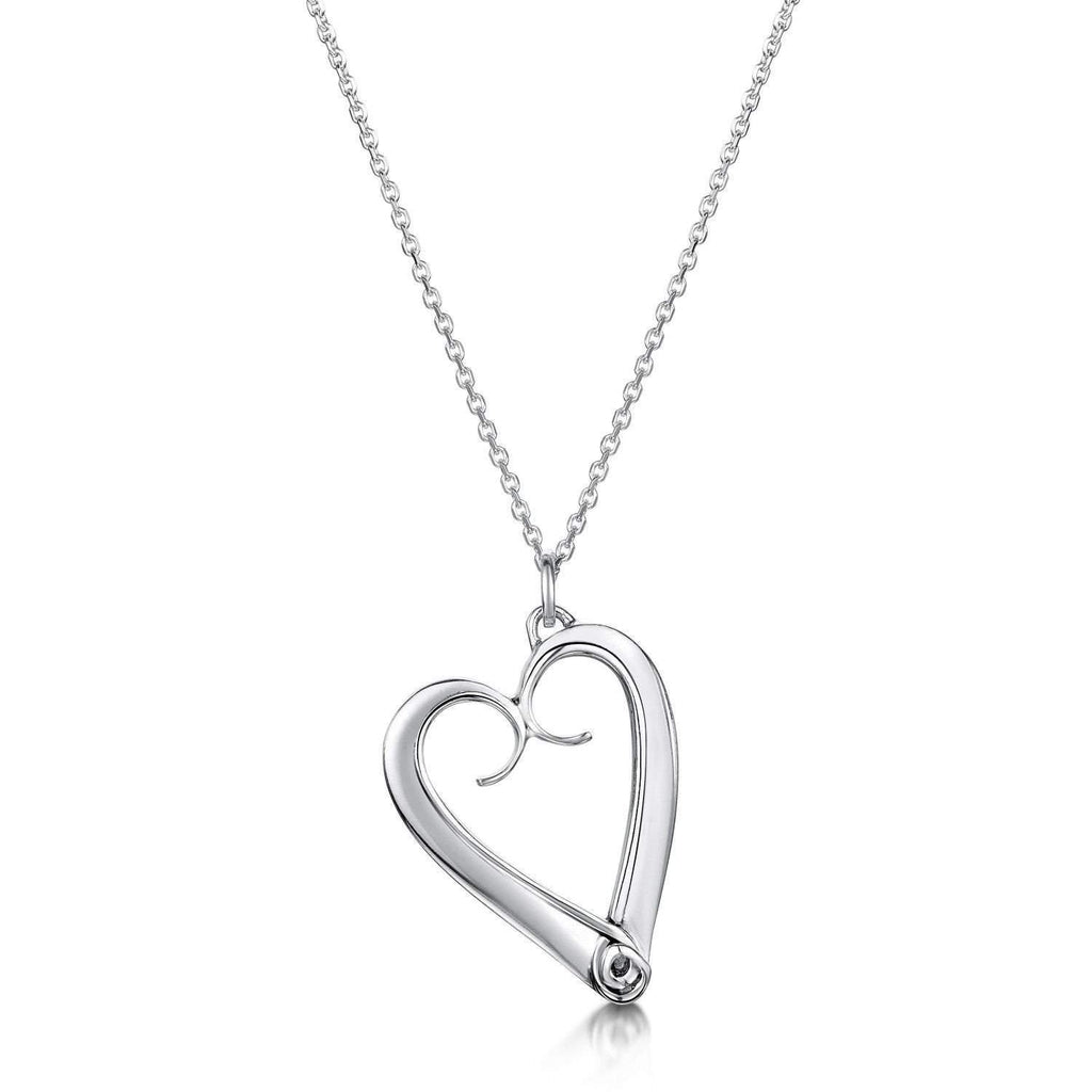 Glenna Sterling Silver Eternal Heart Pendant-Ogham Jewellery