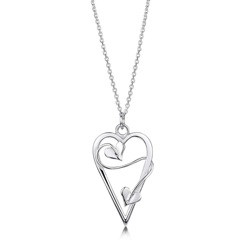 Glenna Sterling Silver Sweetheart Pendant-Ogham Jewellery