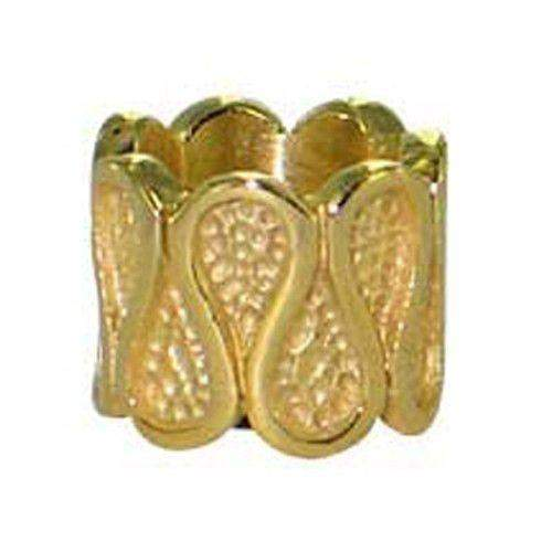 Gold Plated Spacer bead.-Ogham Jewellery