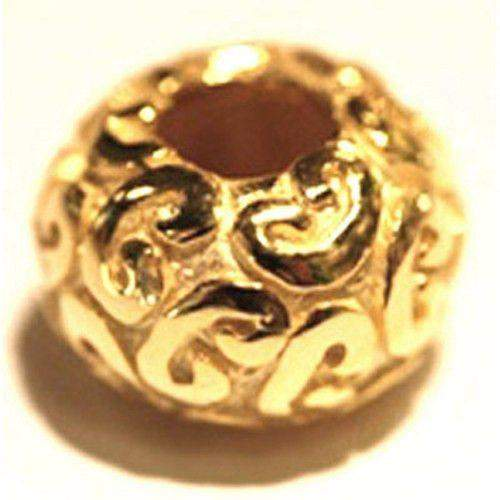 Gold Swirl Bead-Ogham Jewellery