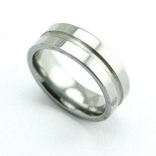 Grooved Tungsten Ring-Ogham Jewellery