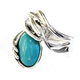 Hagit Gorali Silver And Turquoise Ring - M205-Ogham Jewellery